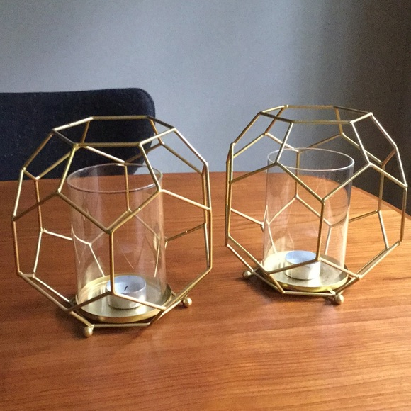 homegoods Other - Glam honeycomb votive holders - 2 of them!